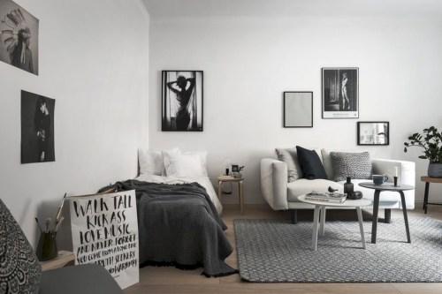Scandinavian bedroom ideas for small apartment 48