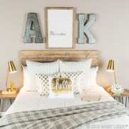 Simple bedroom design ideas with gold accents 07