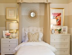 Simple bedroom design ideas with gold accents 13