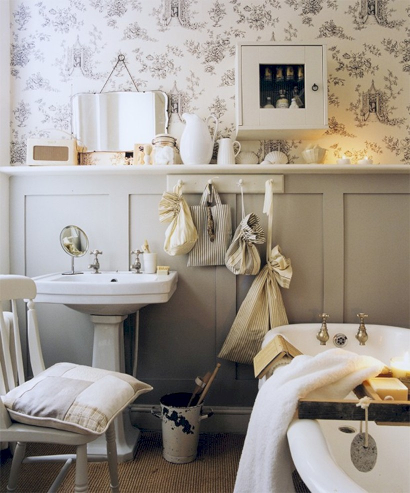 . 54 Small Country Bathroom Designs Ideas   ROUNDECOR