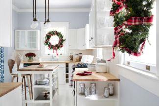 Stunning christmas kitchen décoration ideas 36 36