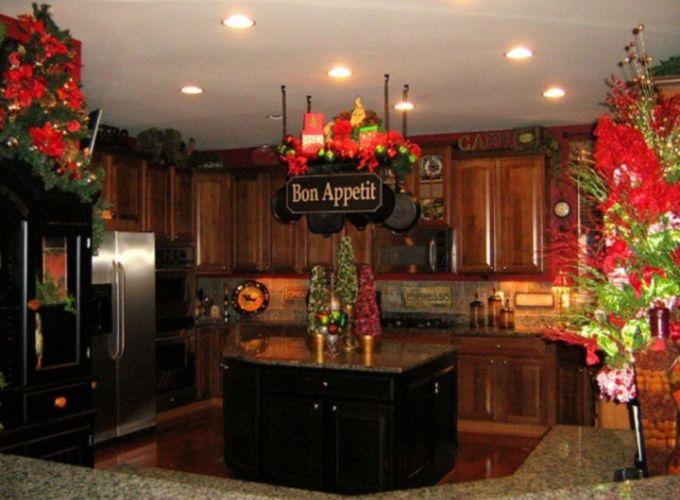 Stunning christmas kitchen décoration ideas 46 46