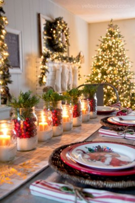 Stunning christmas table decorations ideas 18