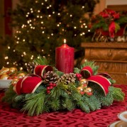 Stunning christmas table decorations ideas 35