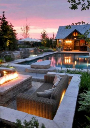Stunning outdoor stone fireplaces design ideas 03