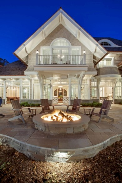 52 Stunning Outdoor Stone Fireplaces Design Ideas - Round Decor