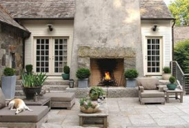 Stunning outdoor stone fireplaces design ideas 07