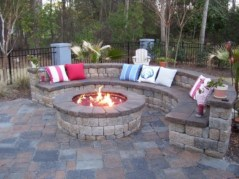 Stunning outdoor stone fireplaces design ideas 09