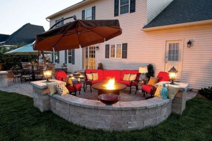 52 Stunning Outdoor Stone Fireplaces Design Ideas - Round Decor