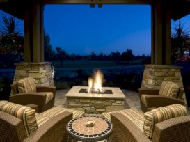 Stunning outdoor stone fireplaces design ideas 20