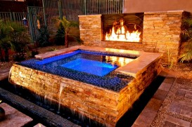 Stunning outdoor stone fireplaces design ideas 21