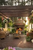 Stunning outdoor stone fireplaces design ideas 25