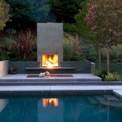 Stunning outdoor stone fireplaces design ideas 35