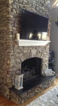 Stunning outdoor stone fireplaces design ideas 40