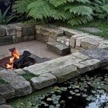 Stunning outdoor stone fireplaces design ideas 49