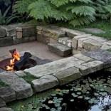 Stunning outdoor stone fireplaces design ideas 49