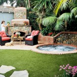 Stunning outdoor stone fireplaces design ideas 52