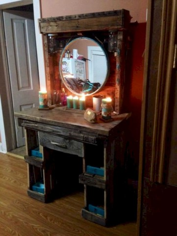 Stunning rustic makeup vanity ideas 45