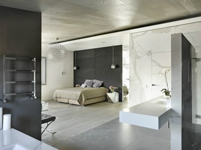 Stylish bedrooms with floor to ceiling windows 10
