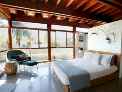 Stylish bedrooms with floor to ceiling windows 48