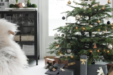 Stylish christmas décoration ideas with stylish black and white 06
