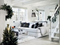 Stylish christmas décoration ideas with stylish black and white 14