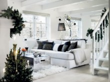 Stylish christmas décoration ideas with stylish black and white 14