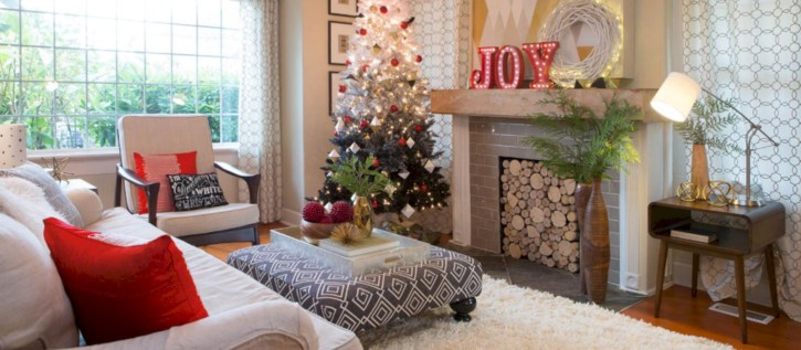 Stylish christmas décoration ideas with stylish black and white 24