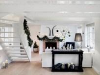 Stylish christmas décoration ideas with stylish black and white 27