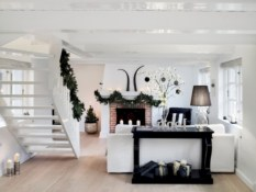 Stylish christmas décoration ideas with stylish black and white 27