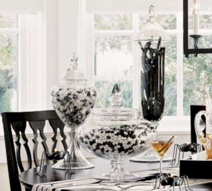 Stylish christmas décoration ideas with stylish black and white 46