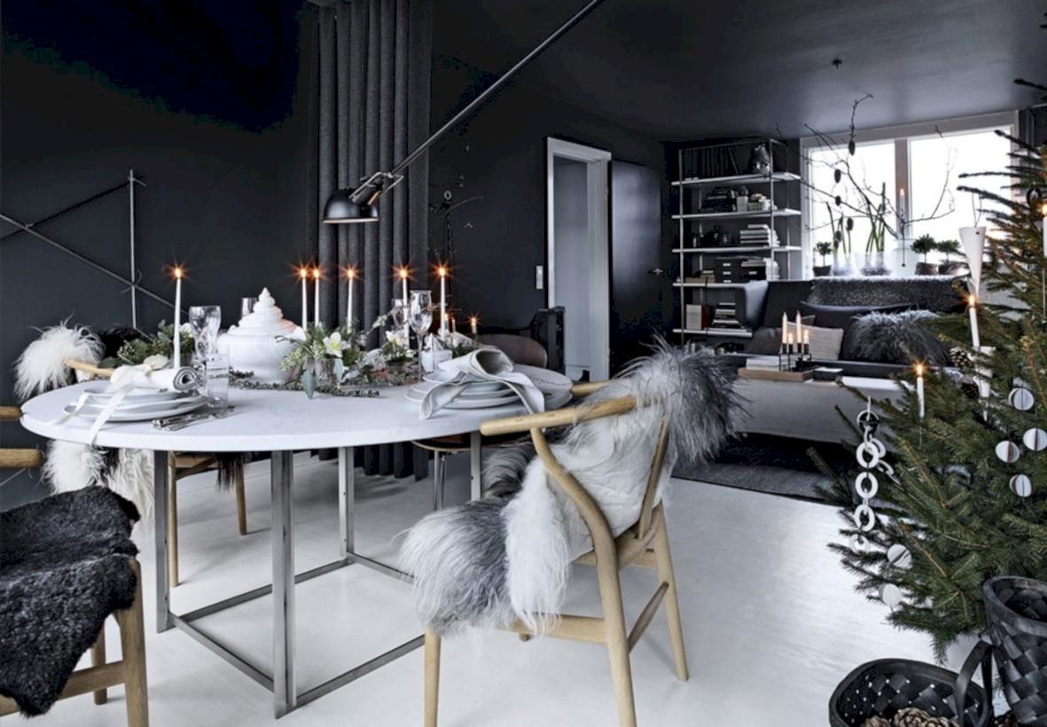 52 Stylish Christmas Décoration Ideas with Stylish Black And White