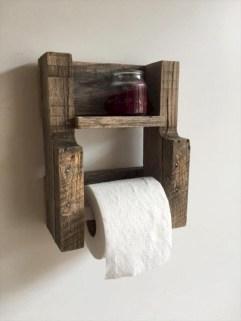 Unique diy bathroom ideas using wood (33)