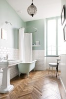 Unique diy bathroom ideas using wood (37)