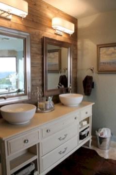 Unique diy bathroom ideas using wood (5)