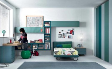 Unisex modern kids bedroom designs ideas 12