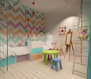 Unisex modern kids bedroom designs ideas 31