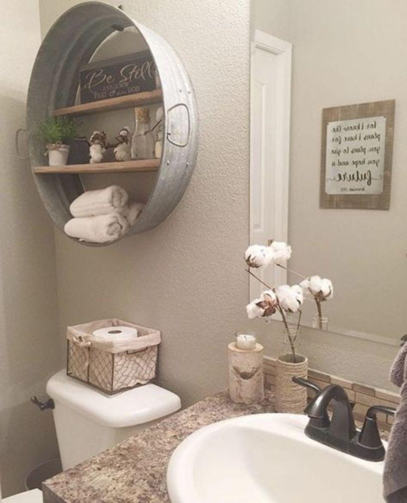 Vintage farmhouse bathroom ideas 2017 (46)