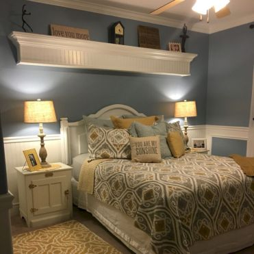 Visually pleasant yellow and grey bedroom designs ideas 01