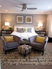Visually pleasant yellow and grey bedroom designs ideas 32
