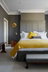 Visually pleasant yellow and grey bedroom designs ideas 33