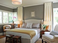 Visually pleasant yellow and grey bedroom designs ideas 58