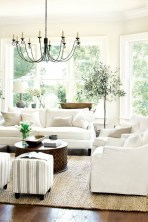 White furniture living room ideas for apartments 16