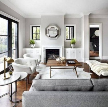 White furniture living room ideas for apartments 17