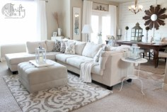 White furniture living room ideas for apartments 27