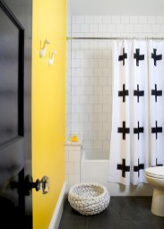 Yellow tile bathroom paint colors ideas (10)