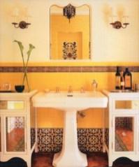 Yellow tile bathroom paint colors ideas (22)