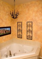 Yellow tile bathroom paint colors ideas (41)