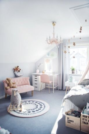 Cool kids bedroom with pink colour 02