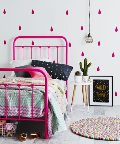 Cool kids bedroom with pink colour 20